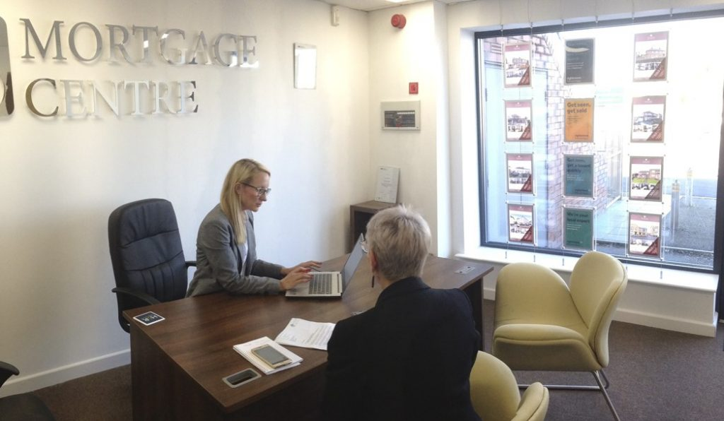 Mortgage advice consultation at the Sheffield office